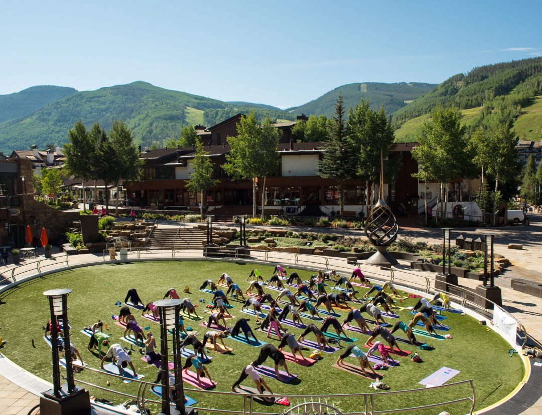 Yoga in Vail Village